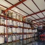 Almacén de residuos procedentes de aguas residuales