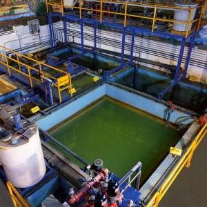 Planta depuradora de aguas residuales industriales