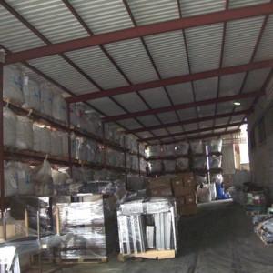 Almacén de residuos procedentes de la planta depuradora de aguas residuales